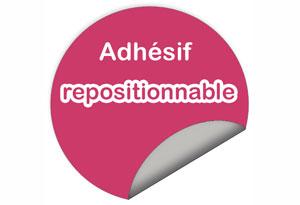 adhésif repositionnable