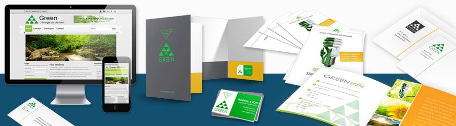 Pack communication web et imprimée